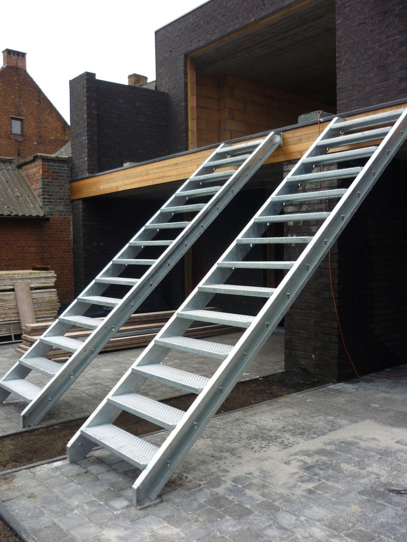 metalen standaard trap traponderdelen echelle